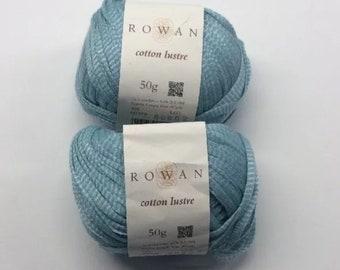 Rowan Yarn Cotton Luster Lot Of 2 Skeins 379 Sweetpea Cotton Linen Modal Tape
