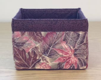 Quilted Fabric Box (TGBX03) Leaves