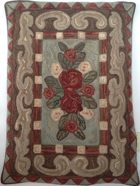 "Rug Hooking Pattern, ""Annabelle"" 34""x 46""  P138"