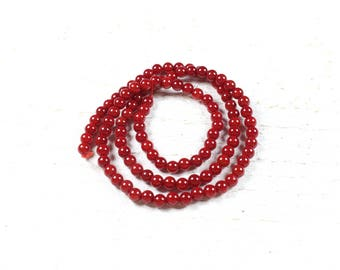 20 natural dyed coral beads approximately 4 to 4.5 mm LBP00018