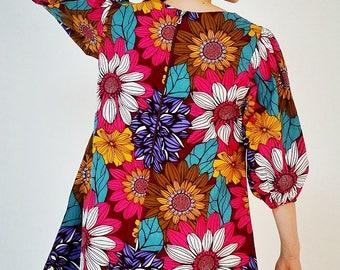 Ankara Print Shift Dress