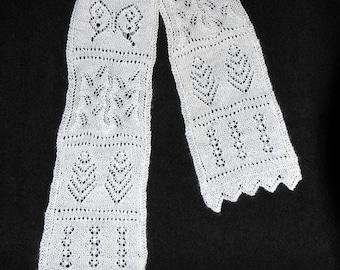 Knitting - Lace  Sampler Scarf  PDF File