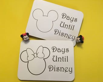 Disney Inspired 5x7 Magnetic Dry Erase Countdown; Mickey and Minnie; Countdown to Disney