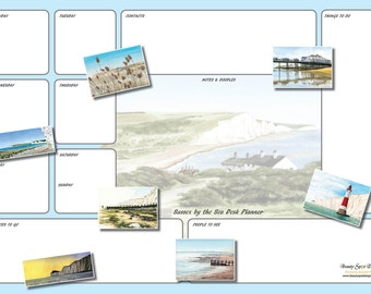 A3 Sussex by the Sea Desk Planner