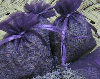 12 Organic HIGHEST FRAGRANCE Lavender Sachet Bridal Shower Favor Wedding Biodegradable Moth Silverfish Control, Ivory Blue Pink Purple White