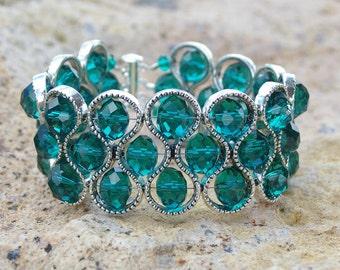 GREEN BRACELET, gift jewelry, glass bracelet