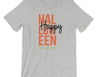 Bella Canvas Unisex T-Shirt Happy Halloween Trick or Treat