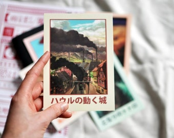 Howl's Moving Castle - Studio Ghibli - Original Vintage Style Art Postcard