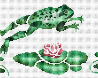 Cross Stitch Pattern, Cross Stitch Patterns, Cross Stitch, Counted Cross Stitch, Cross Stitch Chart, Xstitchpatterns, Frog Cross Stitch