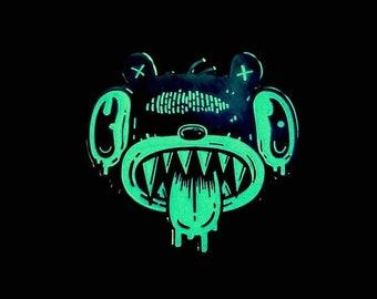 Glow-in-the-Dark Hungry Bear Hard Enamel Pin