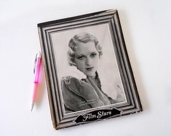 Vintage 1930s Movie Star Blank Notebook Unused Lined Journal Paper Fox Pictures Film Star