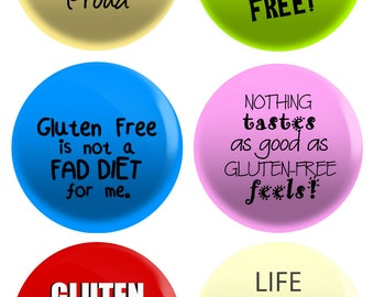 Gluten Free Pin Back Buttons