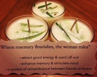 Enchanted Tea Lights-Rosemary-Reiki Infused