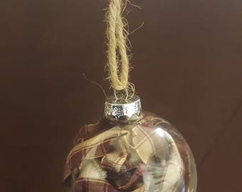Homespun Christmas Ornaments/Bulbs