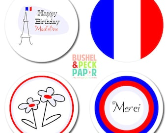 Paris #Party #Stickers