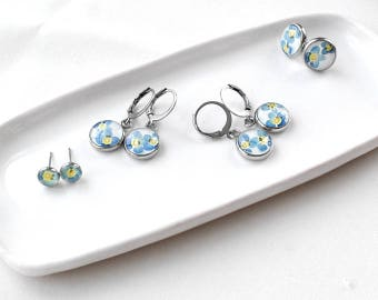 Matching mother daughter set gift earrings for mother day gift set for sister dangle earrings miniature Drop earrings Stud earrings girls