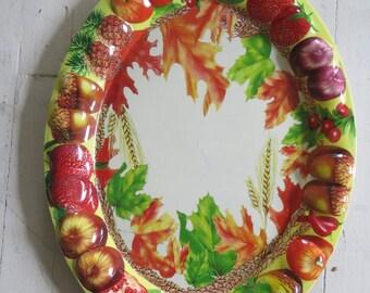 Vintage plastic fruit platter
