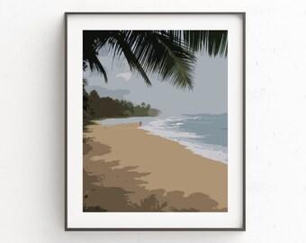 Beach Wall Art, Coastal Landscape, Beach Art Print, Coastal Wall Art, Nature Wall Art, Beach Wall Decor, Wall Art Prints, Beach House Decor