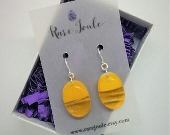 Sunflower Yellow Drop Earrings