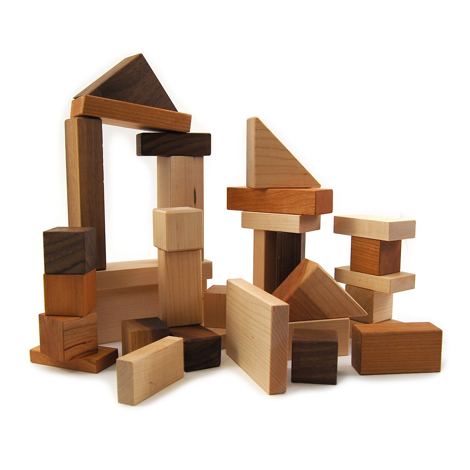 Building Blocks Toy Heirloom Block Set Stacking Blocks
