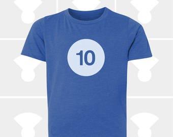 Birthday Shirt - 10th Birthday - Tenth Birthday - Boys Birthday Shirt - Girls Birthday Shirt - 10th Birthday Gift - Glow in the Dark - 10