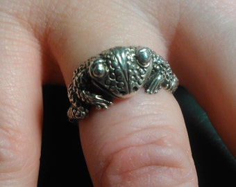 Sterling Silver Frog Ring