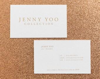 Gold Foil // letterpress // Business Cards