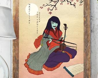 Marceline Vampire Queen Japanese classic twist poster print