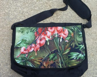 Bleeding Hearts Detail Messenger Bag