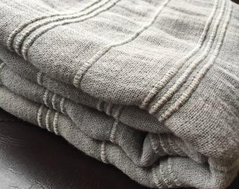 Turkish Towel Peshtemal towel Cotton Peshtemal Stone washed Grey Towel Soft, genuine handloomed