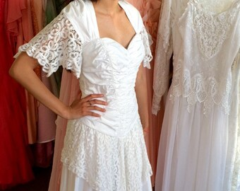 Chic Wedding Dress Etsy - Shabby Chic Wedding Dress