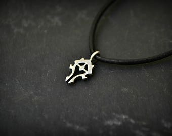 Horde Necklace Jewelry, World of Warcraft WoW Men Necklace, Gamer jewelry, 925 Sterling Silver, Geek Gift