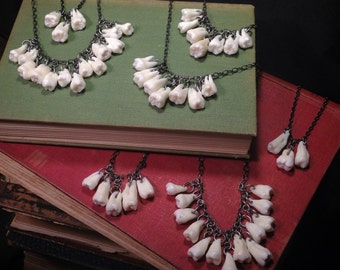 CUSTOM ORDER - Real Human Molar Necklace (or Bracelet) with Your Choice of Amount of Teeth