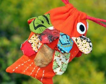 Shopping Bag-Hochzeit auf Reisen Tasche mit Applikationen - Fischdesign