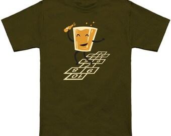 Hop-Scotch Ringspun cotton T-shirt, multiple color options available