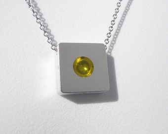 Contemporary Necklace – Modern Contemporary Jewelry – Sphere Pendant