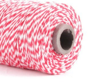 Pink & White Baker's Twine / 15 Yards