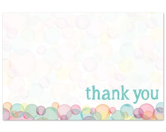 Thank You Note - Bubble Themed