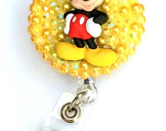 Retractable Badge Reel - Mickey Mouse