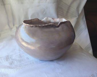 Purple ceramic vase