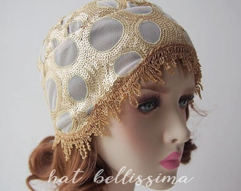 SALE 1920's brimless cloche hat Vintage Style hat hatbellissima millinery