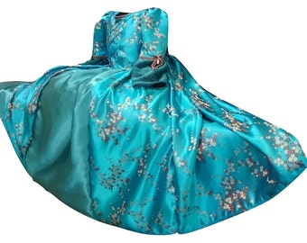 Costume dress of Princess MARQUISE historical costume blue dress 8 homemade made in France in Hérault