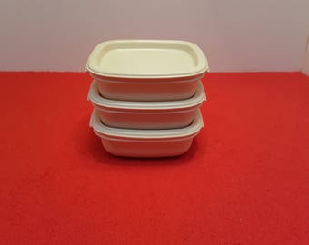 Vintage rubbermaid containers, 2 cup containers, set of 3, rubbermaid food storage, rubbermaid  #2243