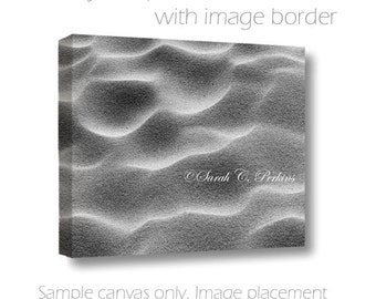 16x20 Wall Canvas-B&W Photography-Waves-Sand Photograph-Coastal Wall Art-Abstract-Beach Wall Decor-Fine Art Photography-Gallery Wrap Canvas