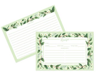 Jasmine - Recipe Cards [12 pack]