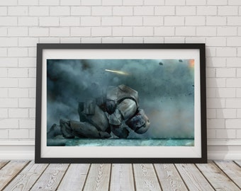 LARGE SIZE Star Wars Storm Trooper Poster/ Storm Trooper Defeat Poster / Star Wars Art / Star Wars Poster / Storm Trooper Poster /
