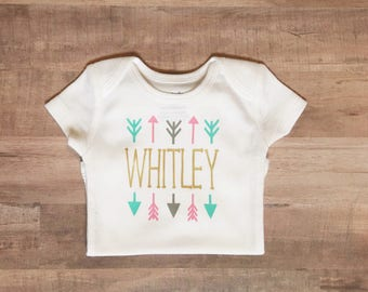 Baby Girl Clothes-Baby Name Clothes-Newborn Clothes-Take Home Outfit Girl-Baby Shower Gift-Coming Home Outfit-Hospital Outfit