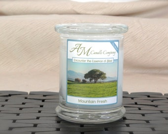 Mountain Fresh - Scented Soy Candles, Fresh Air Scented Candles, Coconut Wax Candles, Gifts for Him, Gifts For Her,  Fresh Candles