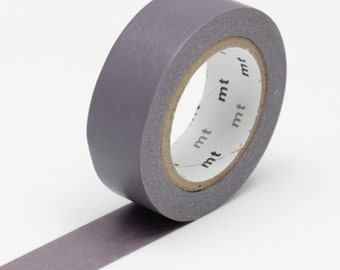 Ash Grey Washi Tape • MT Masking Tape Washi Tape • Washi Tape UK • Japanese stationery • Haimurasaki
