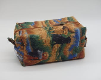 Duck Hunter's Bag, Hunting Dogs Pouch, Ditty Bag, Travel Bag, Toiletry Kit, Shave Kit, Labrador Retriever, Zip Pouch, Dopp Kit